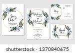 purple hydrangea flower bouquet ... | Shutterstock .eps vector #1370840675