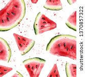 watercolor seamless pattern... | Shutterstock . vector #1370857322