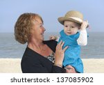 grandmother with granddaughter  ... | Shutterstock . vector #137085902