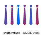 red and blue tie set | Shutterstock .eps vector #1370877908