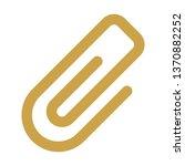 paper clip attachment icon  ... | Shutterstock .eps vector #1370882252