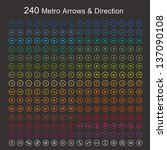 full color metro arrows and... | Shutterstock .eps vector #137090108