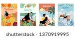 ornage green blue season... | Shutterstock .eps vector #1370919995