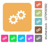 collaboration flat icons on... | Shutterstock .eps vector #1370930582