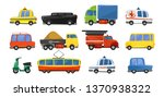 funny city transport objects in ... | Shutterstock .eps vector #1370938322