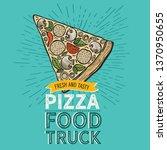 pizza illustration for... | Shutterstock .eps vector #1370950655