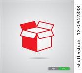 box icon  in modern linear... | Shutterstock .eps vector #1370952338