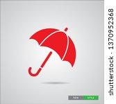 an umbrella vector icon ..... | Shutterstock .eps vector #1370952368