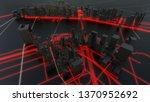 futuristic night city.... | Shutterstock . vector #1370952692