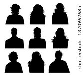 vector silhouette of anonymous...   Shutterstock .eps vector #1370962685