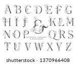 floral botanical alphabet....