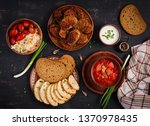 traditional ukrainian russian... | Shutterstock . vector #1370978435