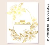 romantic wedding invitation...   Shutterstock .eps vector #1370981528