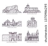line castles and architecture ... | Shutterstock .eps vector #1370986295