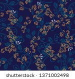 yellow floral all over flowers...   Shutterstock .eps vector #1371002498