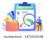 credit report document concept. ... | Shutterstock .eps vector #1371010238