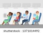 passengers in the plane.... | Shutterstock . vector #1371014492