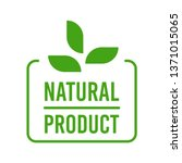 natural organic product. flat... | Shutterstock .eps vector #1371015065