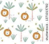 seamless childish pattern with... | Shutterstock .eps vector #1371015782