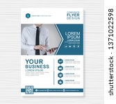 business cover a4 template and... | Shutterstock .eps vector #1371022598