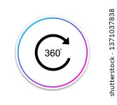 angle 360 degrees icon isolated ... | Shutterstock .eps vector #1371037838