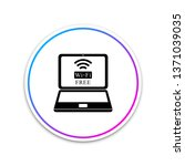 laptop and free wi fi wireless... | Shutterstock .eps vector #1371039035