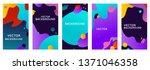 vector set of abstract...   Shutterstock .eps vector #1371046358