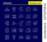finance hand drawn icons set...