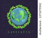 earth day illustration go green   Shutterstock .eps vector #1371075542