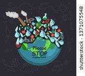 earth day illustration go green   Shutterstock .eps vector #1371075548