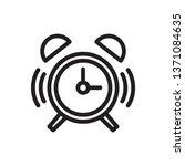 alarm clock icon in trendy...