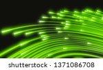 glowing fiber optic strings.... | Shutterstock . vector #1371086708