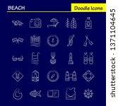 beach hand drawn icon for web ...