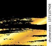 golden artistic grunge brush... | Shutterstock . vector #1371107408