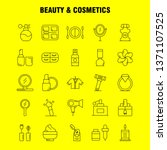 beauty and cosmetics line icons ...