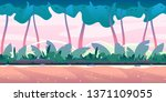 wild jungle forest with plants... | Shutterstock .eps vector #1371109055
