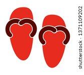 red flip flops. footwear ... | Shutterstock .eps vector #1371109202