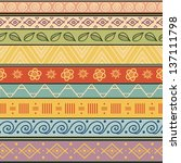 tribal striped hand drawn... | Shutterstock .eps vector #137111798