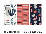 set of trendy modern abstract... | Shutterstock .eps vector #1371128912