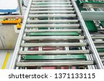 the conveyor chain  and... | Shutterstock . vector #1371133115