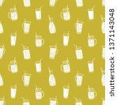 monochrome seamless pattern... | Shutterstock . vector #1371143048