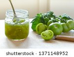 Green Tomato Jam Or Chutney In...
