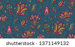 vector seamless pattern with... | Shutterstock .eps vector #1371149132