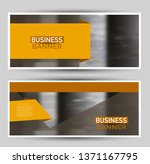 banner for advertisement. flyer ... | Shutterstock .eps vector #1371167795