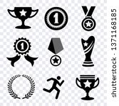 award icon  winner cup and... | Shutterstock .eps vector #1371168185