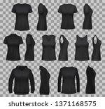 black shirt vector templates...   Shutterstock .eps vector #1371168575
