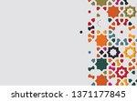 arabic arabesque design... | Shutterstock .eps vector #1371177845