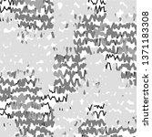 monochrome geometric vector... | Shutterstock .eps vector #1371183308