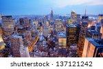 panorama of new york city in... | Shutterstock . vector #137121242