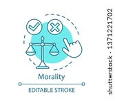 morality concept icon. justice... | Shutterstock .eps vector #1371221702